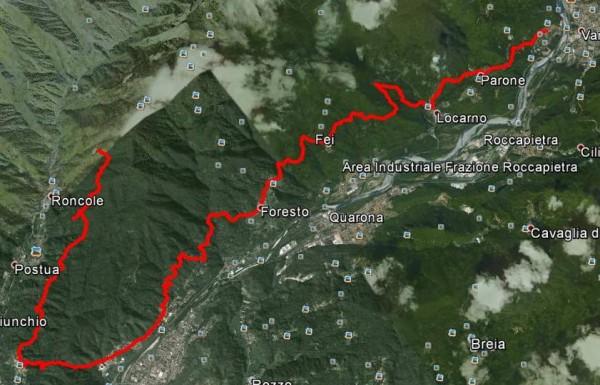 Sentiero Crevola - Maddalene di Postua