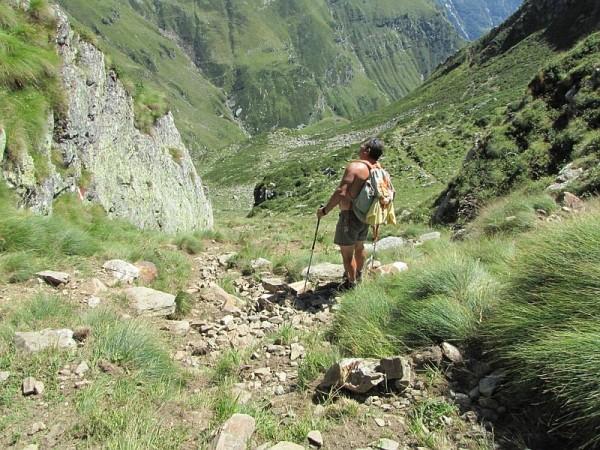 Sentiero Colle del Vallè dall'Alpe Valpiana