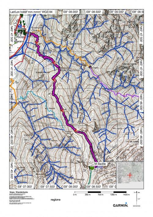 mappa cartinaIl Badile