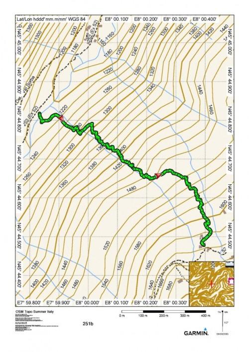 mappa cartinaPonte di Prabella - Alpe Sorbella