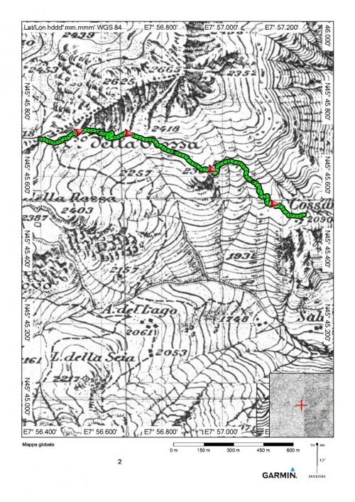 mappa cartinaPasso della Rossa