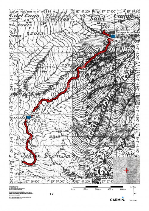 mappa cartinaAlpe Selletti - Passo della Gronda