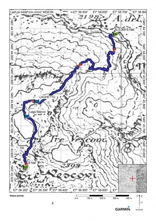 mappa cartinaBocchetta di Niel