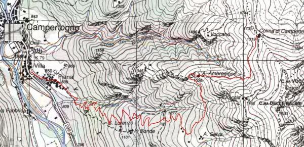 mappa cartinaColma di Campertogno
