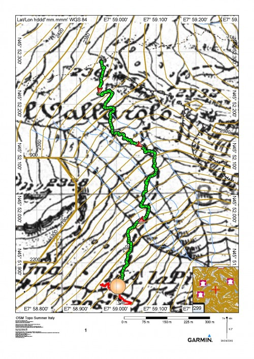 mappa cartinaPasso del Vallarolo