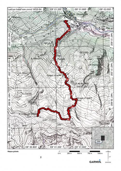 mappa cartinaBocchetta delle Tirette o di Grega