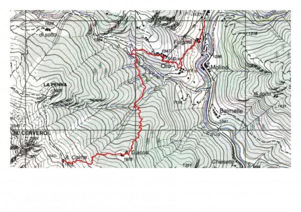 mappa cartinaAlpe Colma di Ferrate