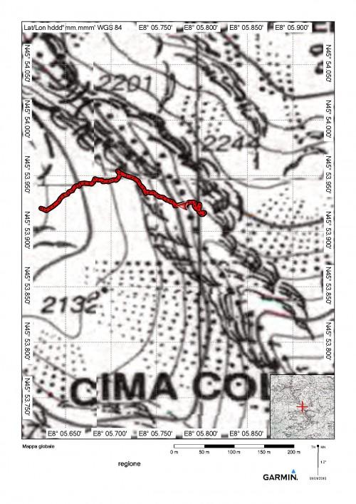 mappa cartinaBocchetta del Rosso
