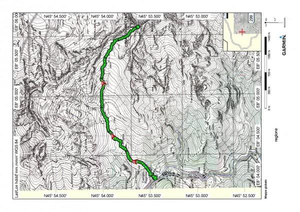 mappa cartinaBocchetta del Cardone