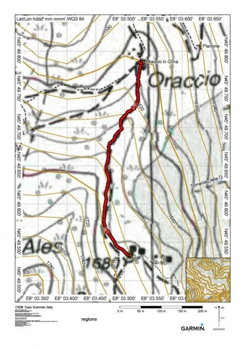 mappa cartinaRaccordo itinerari 377 - 379