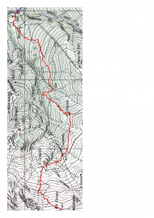 mappa cartinaSella Alta del Sajunchè