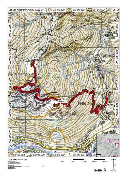 mappa cartinaPiano di Campo Alto da Ronchi