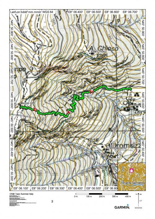 mappa cartinaSolivo - Alpe Campo Alto