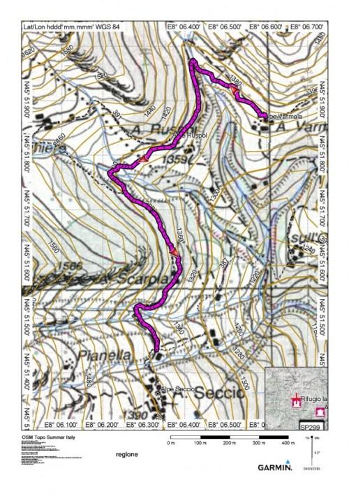 mappa cartinaAlpe Seccio - Alpe Varmàa