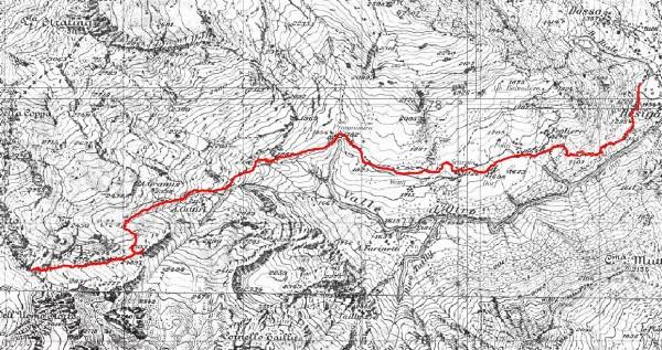 mappa cartinaPasso dell'Uomo Storto