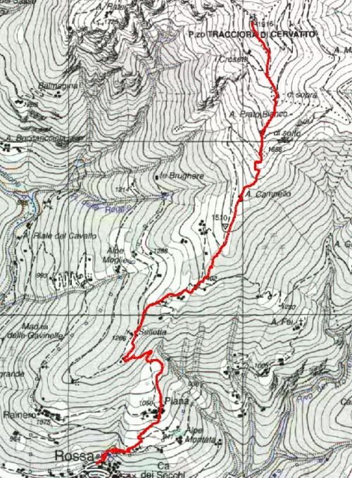 mappa cartinaPizzo Tracciora