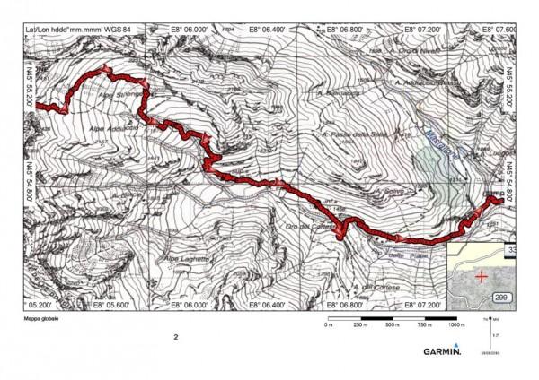 mappa cartinaBocchetta di Striengo o  Strienghi