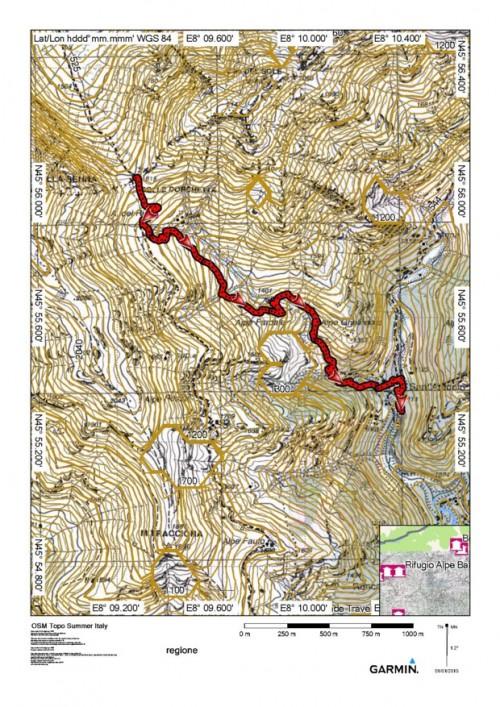 mappa cartinaColle Dorchetta
