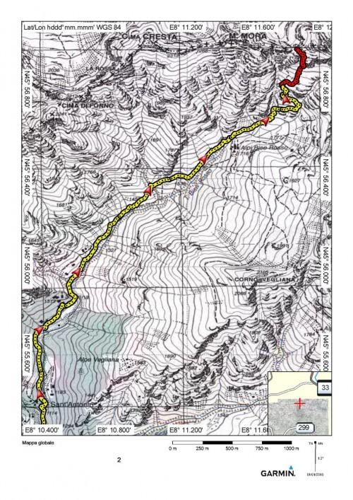 mappa cartinaColle di Segnara