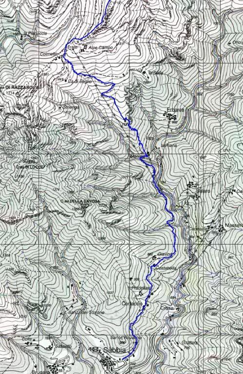 mappa cartinaMonte Capio