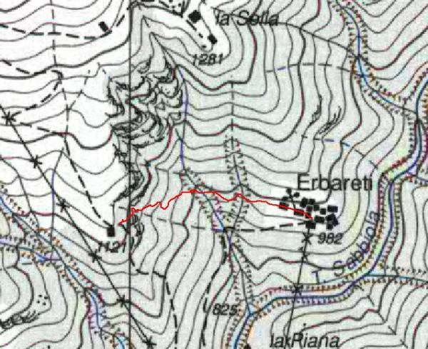 mappa cartinaErbareti - Alpe Corti