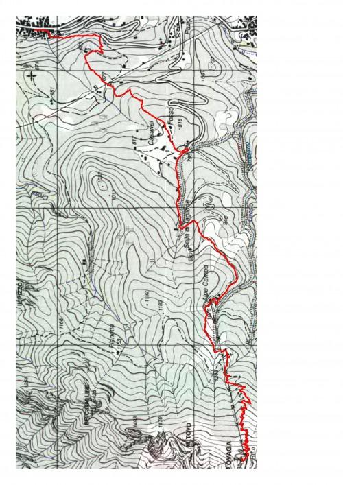 mappa cartinaRes o Bec d'Ovaga