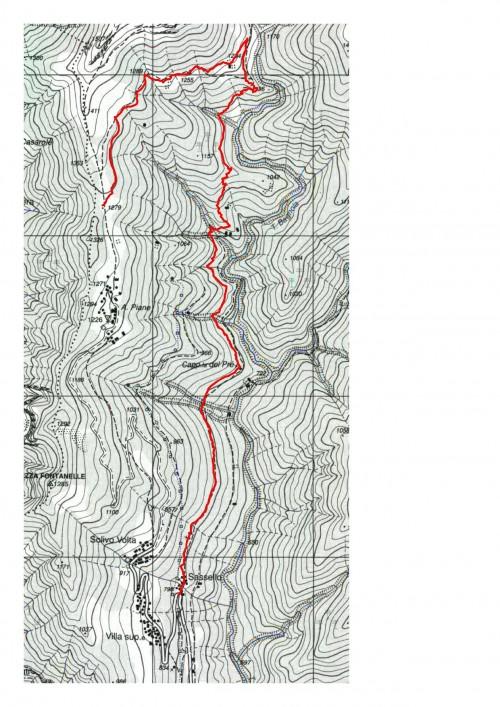 mappa cartinaSassello (Cervarolo) - Sella Vaneccio