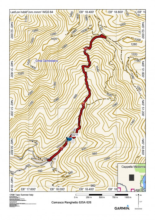 mappa cartinaColle del Ranghetto