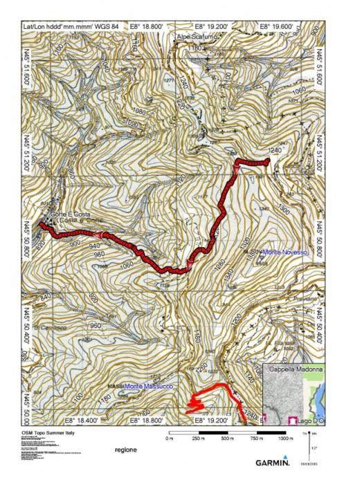 mappa cartinaAlpe Sacchi