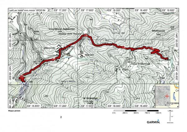 mappa cartinaAlpe Lincè da Varallo per Colma Barella