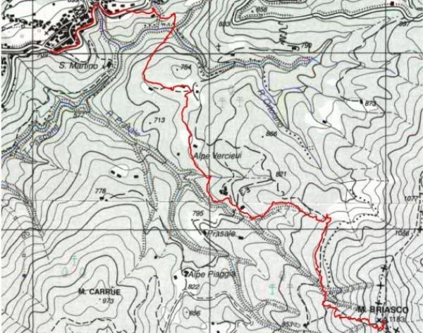 mappa cartinaMonte Briasco