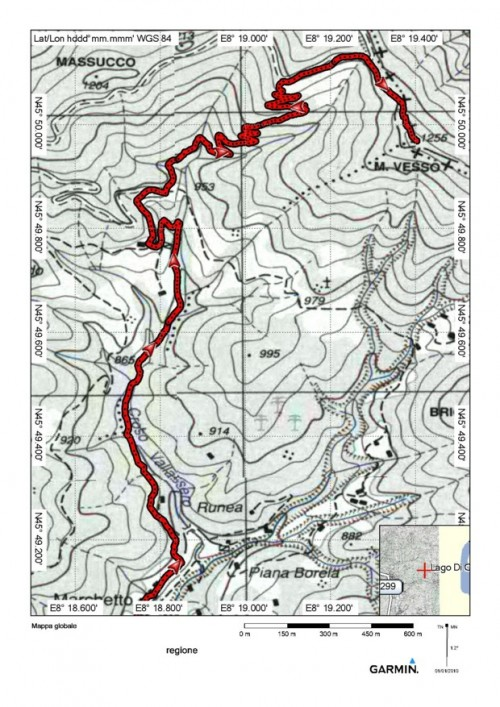 mappa cartinaMonte Vesso