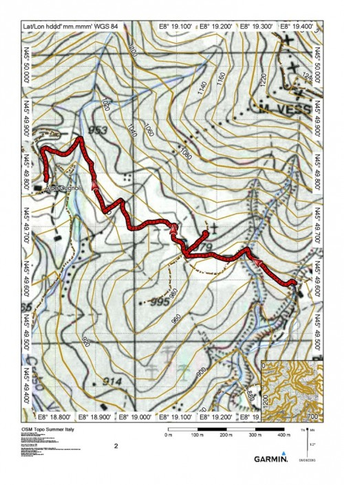 mappa cartinaAlpe Lincè - Alpe Corte