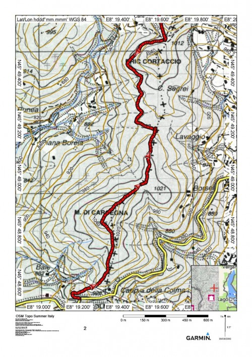 mappa cartinaColma - Passo del Termo