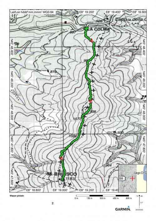 mappa cartinaLa Colma (Civiasco) - Monte Briasco