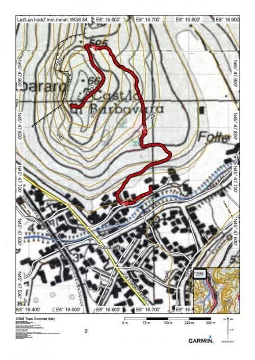 mappa cartinaCastello dei Barbavara