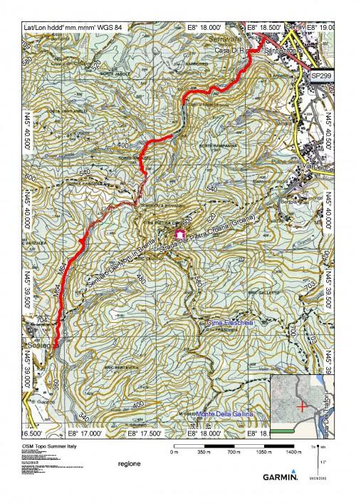 mappa cartinaSerravalle - Sostegno