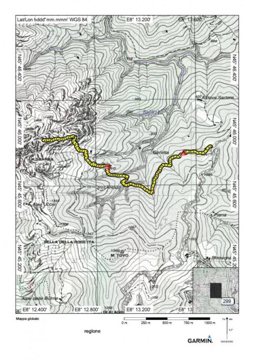 mappa cartinaMonte Luvot