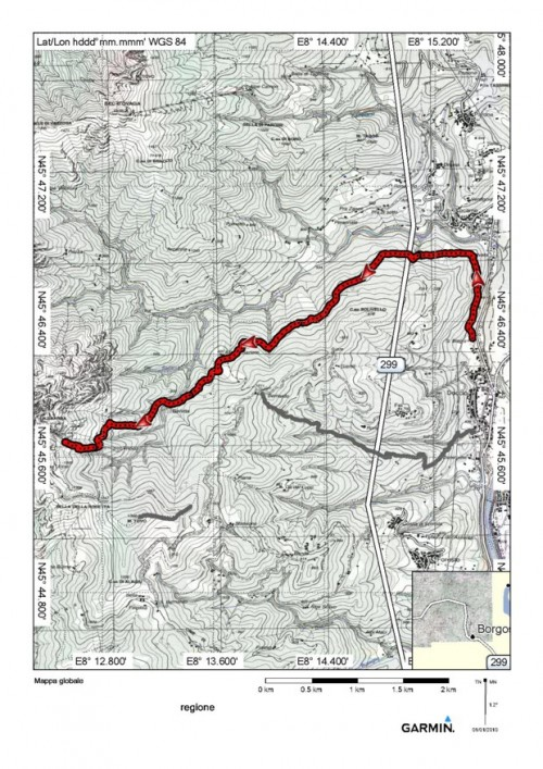 mappa cartinaDoccio - itinerario 715 (Monte Luvot)