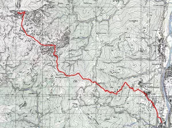 mappa cartinaCastello di Gavala (da Sud Est).