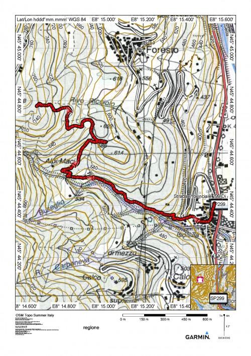 mappa cartinaIsolella - itinerario 716 (San Bernardo)