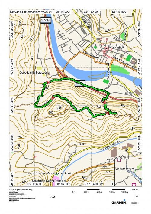 mappa cartinaAnello del Monte Aronne