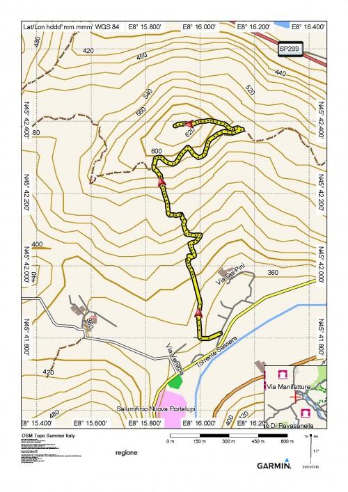 mappa cartinaCimarone o Monte Aronne