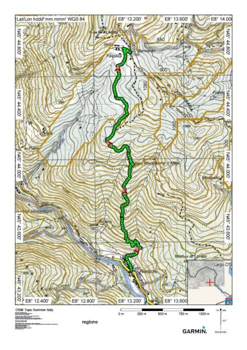 mappa cartinaSella di S. Bernardo di Foresto