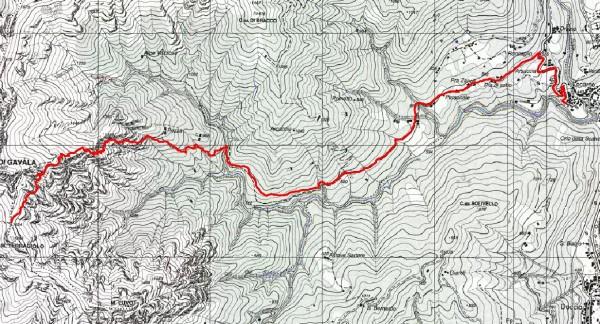 mappa cartinaMiniere e Colle della Balma