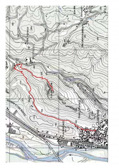 mappa cartinaMonte Tucri per il versante Nord