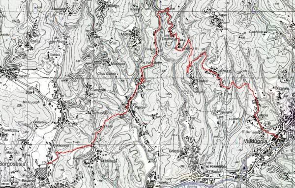 mappa cartinaBorgosesia - Valduggia