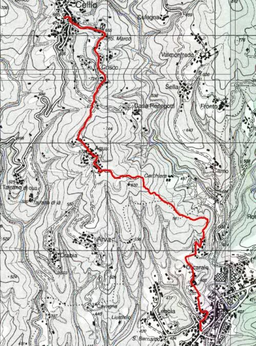 mappa cartinaValduggia--Cellio