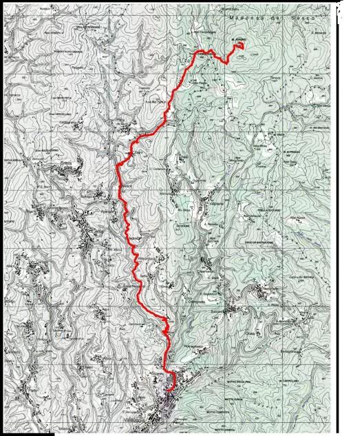 mappa cartinaMonte Avigno o Navigno