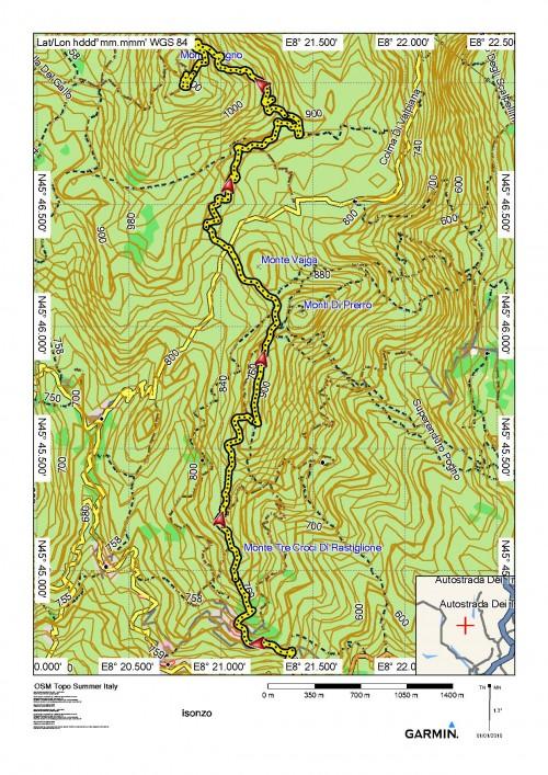 mappa cartinaMonte Avigno